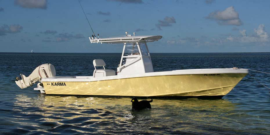 27 Ocean Master Center Console in the Florida Keys