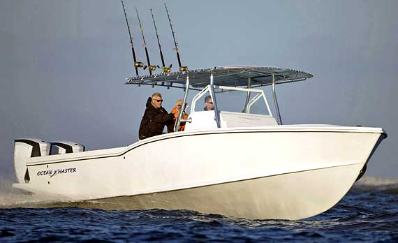 Ocean Master 336 Center Console Fishing boat is strong, nimble and buiilt semi-custom for each individual owner